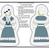 Victorian Ladies LouArlene Cut and Sew Doll Ornament Fabric Collection