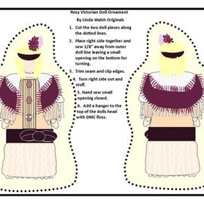 Victorian Ladies Roxy Cut and Sew Doll Ornament Fabric Collection