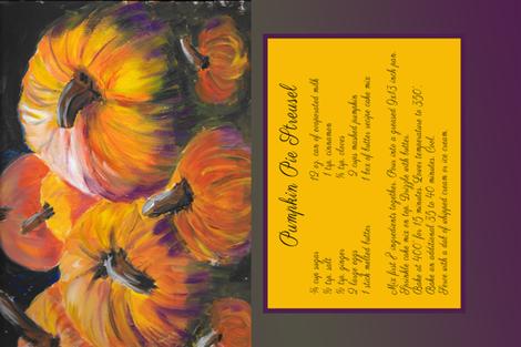 Pumpkin Pie Streusel fabric by lisa_colburn on Spoonflower - custom fabric