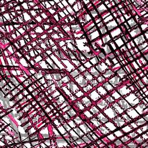 Alien Cuneiform Cloth - Pink