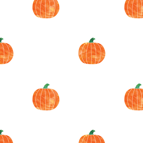 watercolor pumpkins fabric by littlearrowdesign on Spoonflower - custom fabric