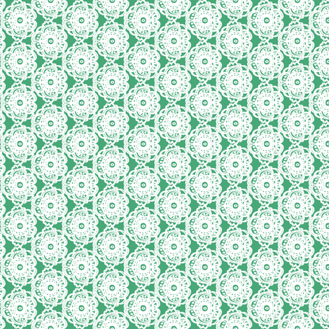 Indy_bloom_design_Santa_Lace_Green B fabric by indybloomdesign on Spoonflower - custom fabric