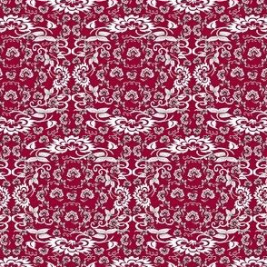 Victorian Santa and Mrs Claus Christmas Fabric Collection
