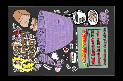 doodled family recipe fabric by jjdesignwithlove on Spoonflower - custom fabric