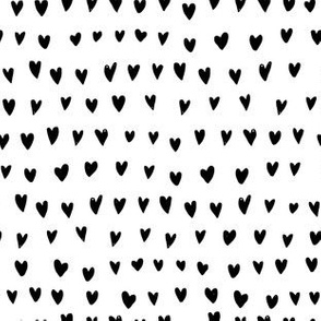 I LOVE Hearts // Black & white