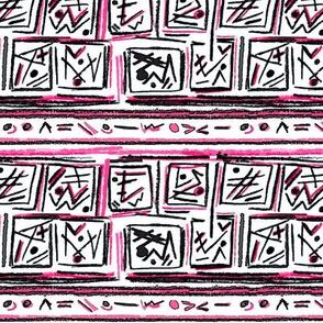 Alien Cuneiform Blocks II - Pink
