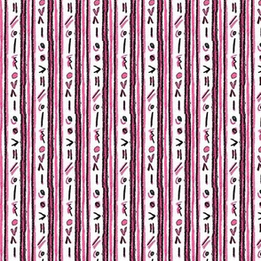 Alien Cuneiform Stripe - Pink