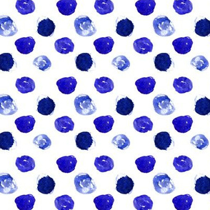 Watercolor blue polka dot
