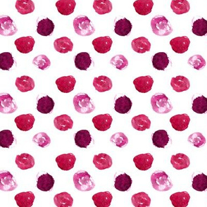 Watercolor fuchsia polka dot