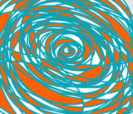 TerquoiseOrangeWhiteSpiral fabric by creativespaces on Spoonflower - custom fabric