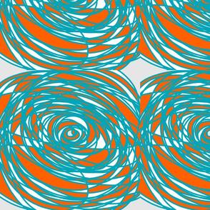 TerquoiseOrangeWhiteSpiral