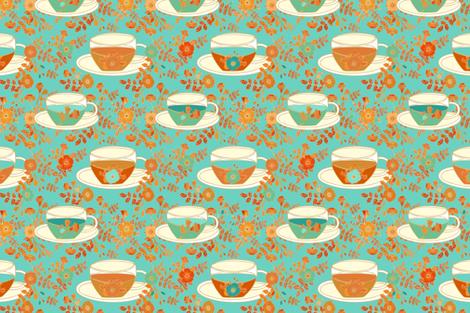 Rose tea time fabric by dariara on Spoonflower - custom fabric