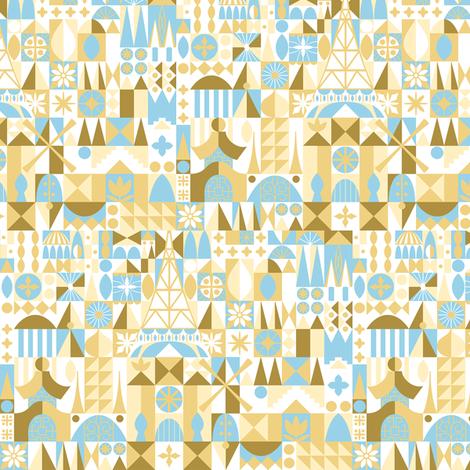 City of Golden Blocks fabric by ejrippy on Spoonflower - custom fabric