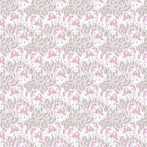 """1.5"""" Pink Unicorn Floral Garden / Pink"""