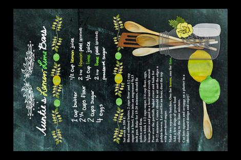 Auntie's Lemon-Lime Bars fabric by irishvikingdesigns on Spoonflower - custom fabric