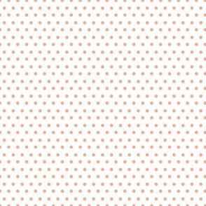 """8"""" Peach Polka Dots"""