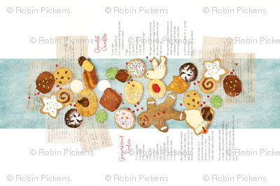 ChristmasCookies from AuntTeckla_tea_towel