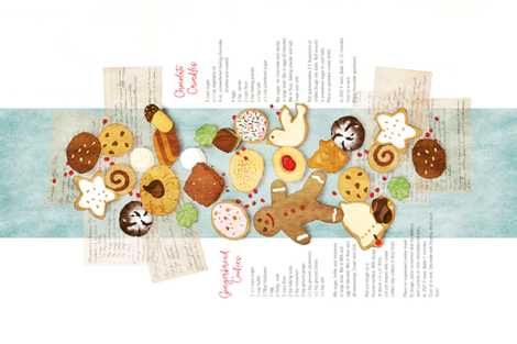 ChristmasCookies from AuntTeckla_tea_towel fabric by robinpickens on Spoonflower - custom fabric