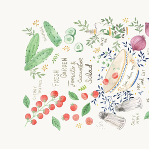 Garden Tomato & Cucumber Salad Recipe