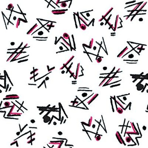 Alien Cuneiform Pattern - Pink