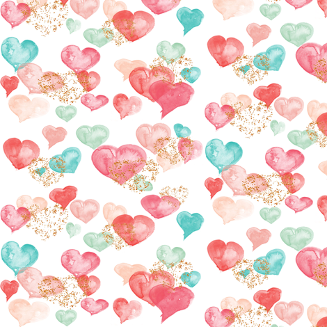 Sweet Hearts (Micro) fabric by hipkiddesigns on Spoonflower - custom fabric