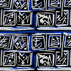 Alien Cuneiform Blocks - Rev Blue
