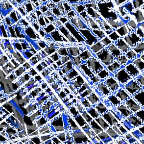 Alien Cuneiform Cloth - Rev Blue