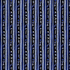 Alien Cuneiform Stripes - Rev Blue