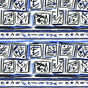 Alien Cuneiform Blocks II - Blue