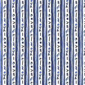 Alien Cuneiform Stripes - Blue