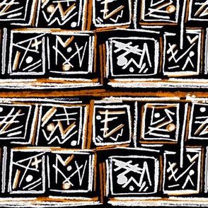 Alien Cuneiform Blocks - Rev Orange