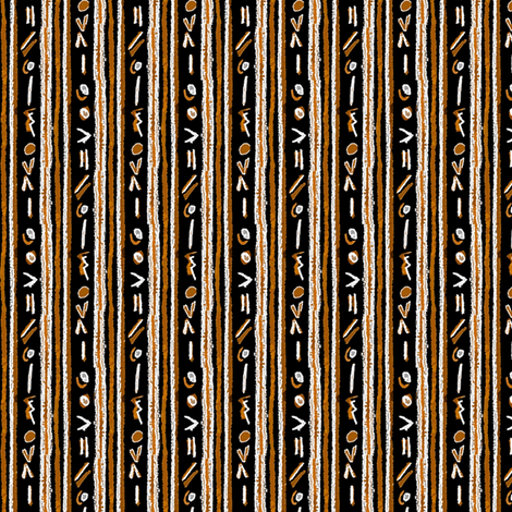 Alien Cuneiform Stripe - Rev Orange fabric by engravogirl on Spoonflower - custom fabric