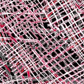 Alien Cuneiform Cloth - Reverse Red