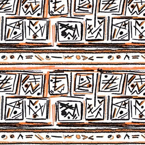 Alien Cuneiform Blocks II - Orange