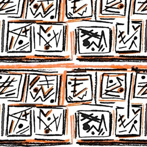 Alien Cuneiform Blocks - Orange