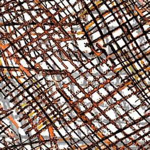 Alien Cuneiform Cloth - Orange