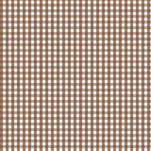 tiny gingham chocolate brown