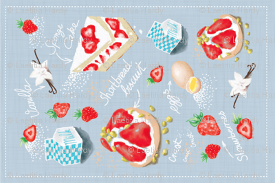 Strawberry Delight Tea Towel