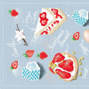 Strawberry Delight Tea Towel
