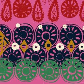 Lotus block pink