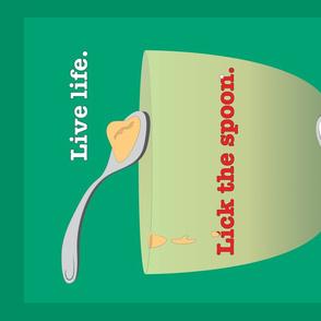 Lick the Spoon teatowel