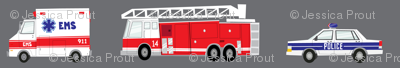 (large scale) first responders vehicles (grey)