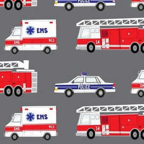 (large scale) first responders vechicles (grey)