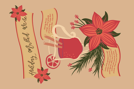 Holiday Mulled Wine fabric by laveroniquedesign on Spoonflower - custom fabric