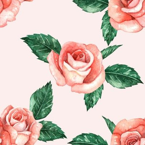 Garden Roses // Blush (Large Scale)