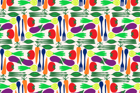 veggie_combo fabric by threadconnections on Spoonflower - custom fabric