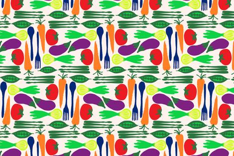 Veggies fabric by threadconnections on Spoonflower - custom fabric