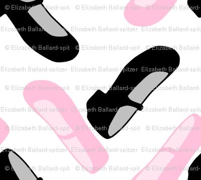 Dance shoes zig zag