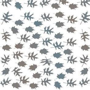 Teal Brown Leaves