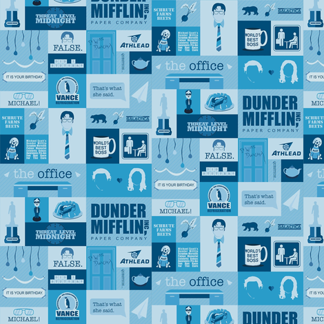 The Office Icons fabric by nerdfabrics on Spoonflower - custom fabric
